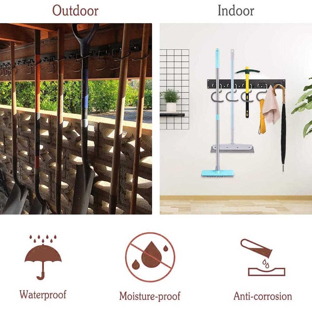 48 Inch Adjustable Tool Storage System 12 Hooks Wall Holder Garage Storage Garden Tool Organizer