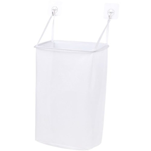 Wall Hanging Laundry Basket with Hooks
