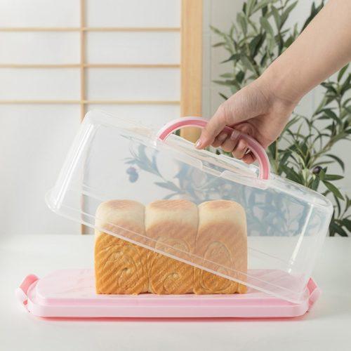 Clear Plastic Rectangular Cake Carrier