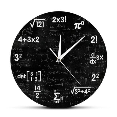 Formula Math Wall Clock