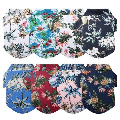 Dog Hawaiian Shirt Summer Pet Clothes