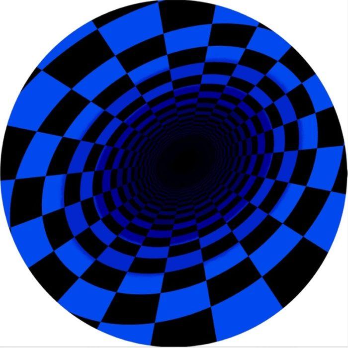 Round 3D Optical Illusion Rug