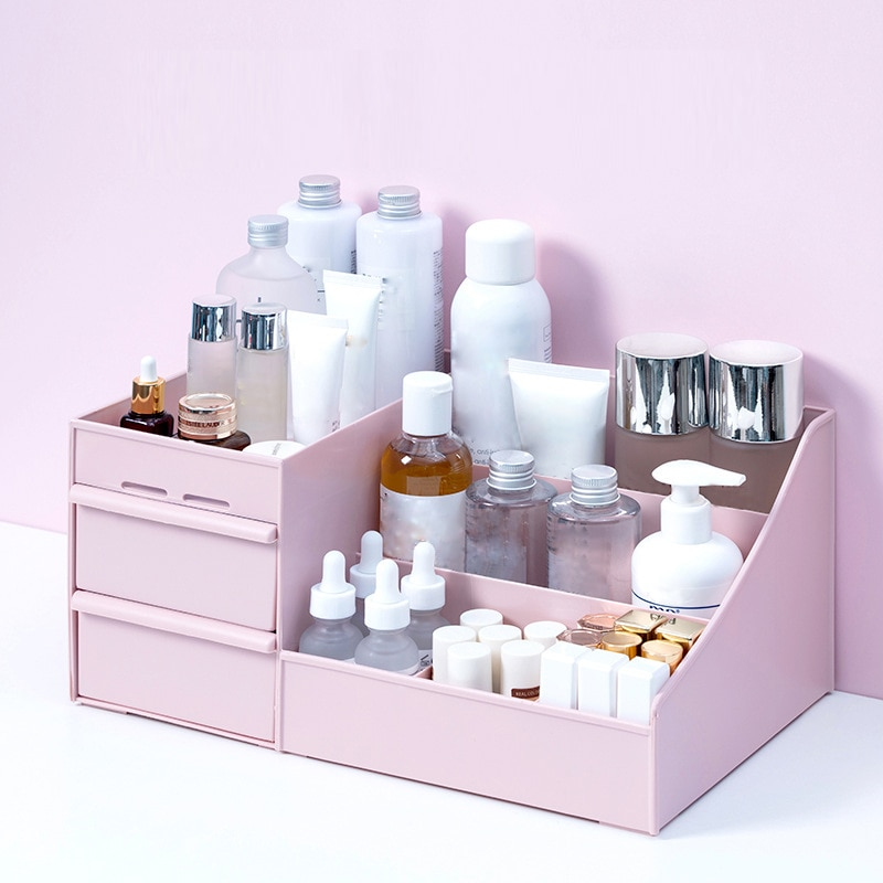Makeup Organizer for Cosmetic Large Capacity Cosmetic Storage Box Organizer Desktop Jewelry Nail Polish Makeup Drawer Container