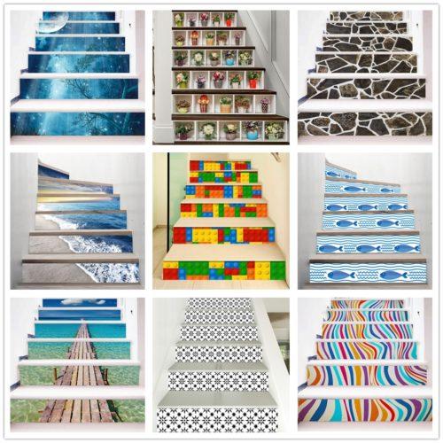 PVC Stair Riser Stickers Set