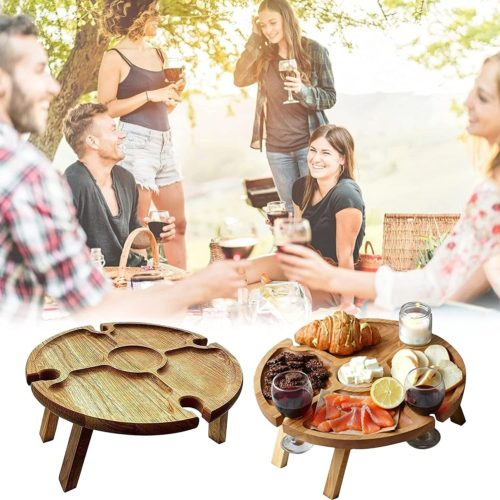 Foldable Outdoor Wood Picnic Table