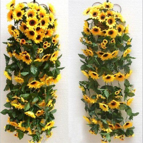 Artificial Sunflower Vine Garland