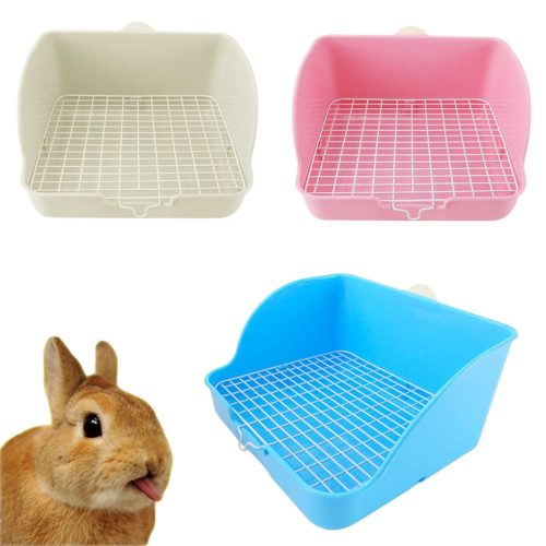 Corner Plastic Rabbit Toilet Tray