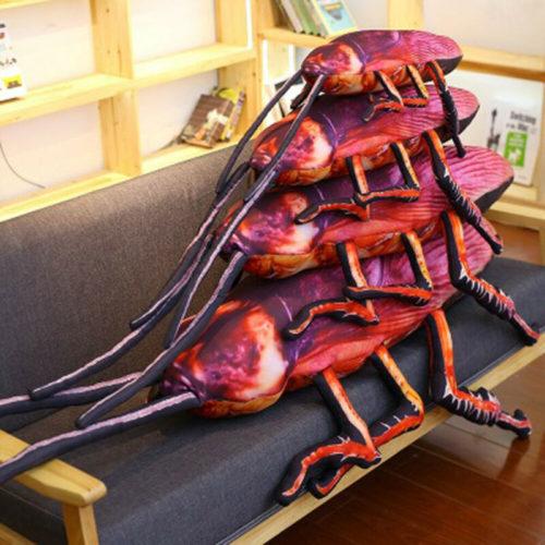 Realistic 3D Cockroach Pillow