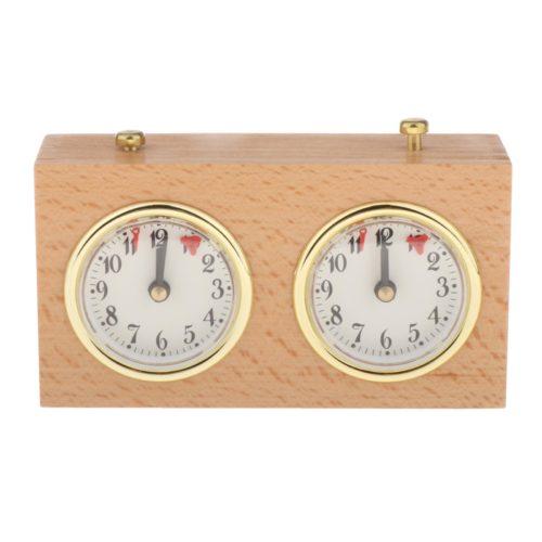 Retro-Style Analog Wooden Chess Clock