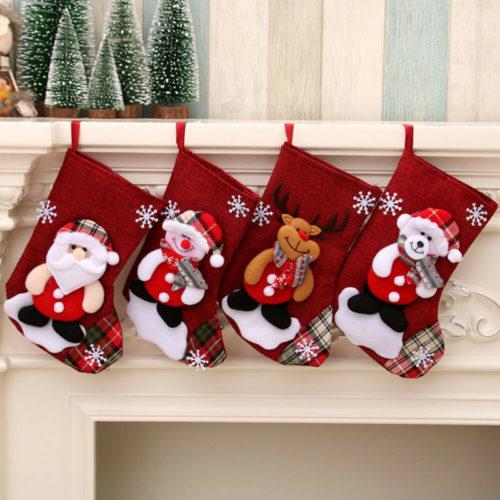 Large Stocking Christmas Sock Decor