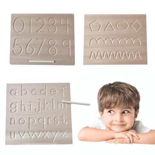 Wooden Alphabet Tracing Board
