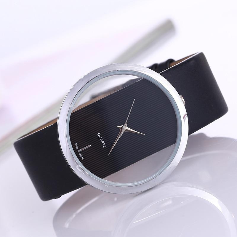 Top Leather Quartz Watch Lady Watches Women Luxury Antique Stylish Round Dress Watch Relogio Feminino Montre Femme 2020New