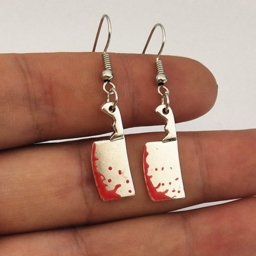 Knife Earrings Ladies Halloween Jewelry