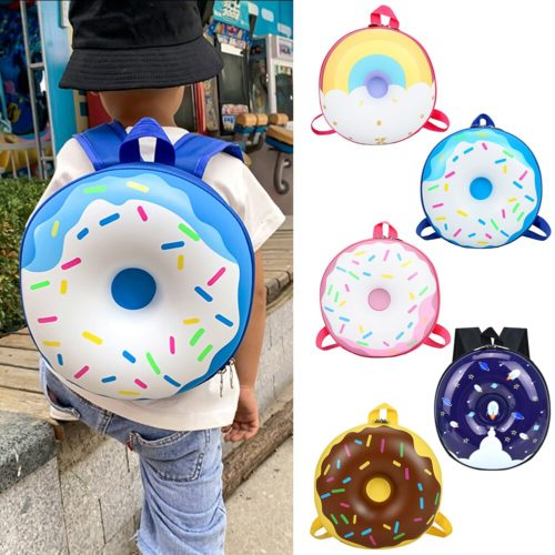Colorful Donut Backpack for Kids