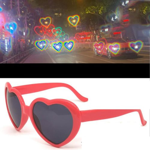 Love Heart Glasses with Special Effect Lenses