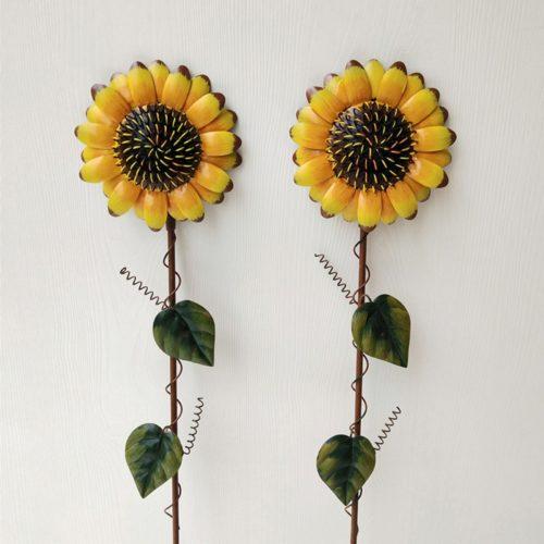 Iron Sunflower Garden Stake