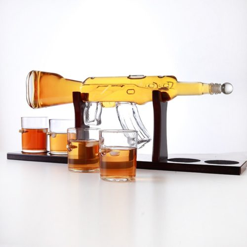 AK 47 Decanter with Stand Drinkware Set
