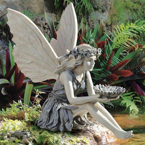 Sitting Garden Fairy Figurine