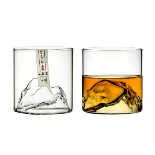 Crystal Mountain Whiskey Glass