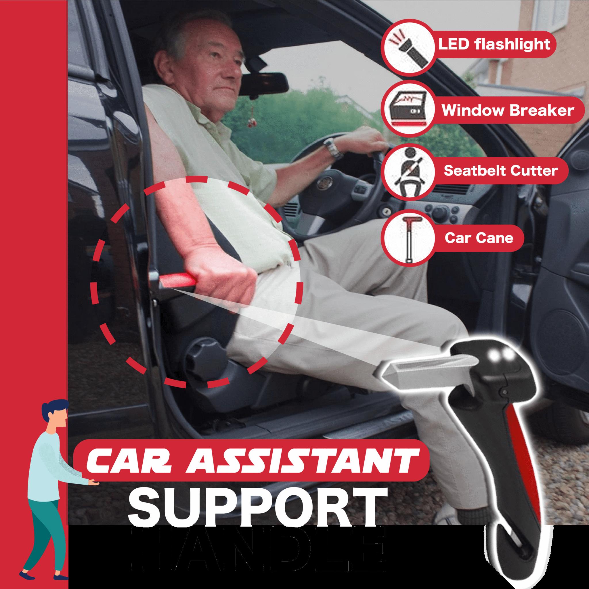 בר ידית עזר לדלת לרכב החלקה קשישים תמיכת רכב עומדת בטיחות פטיש סיוע לניידת חלונות מפסק חלון לרכב