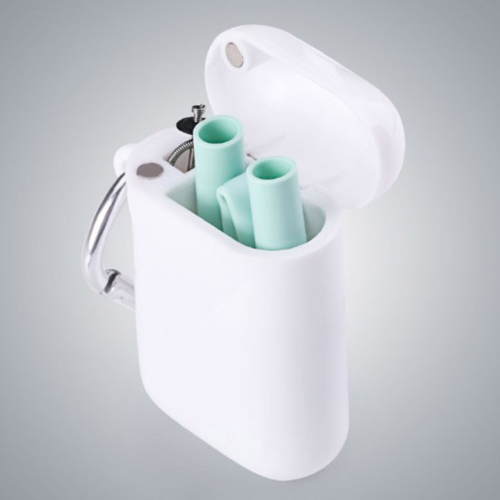 Reusable Silicone Straw with Case
