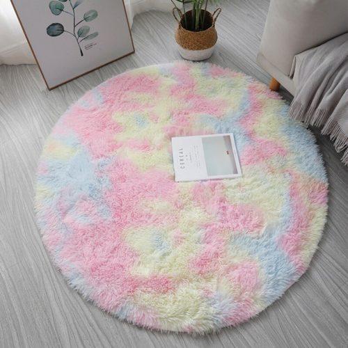 Plush Round Rug Fluffy Carpet