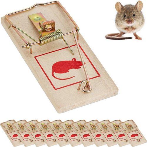 Classic Reusable Wooden Mouse Trap