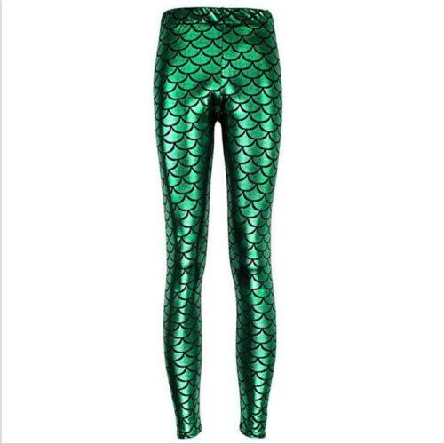 Ladies Mermaid Fish Scale Leggings