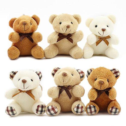 Stuffed Mini Teddy Keychain