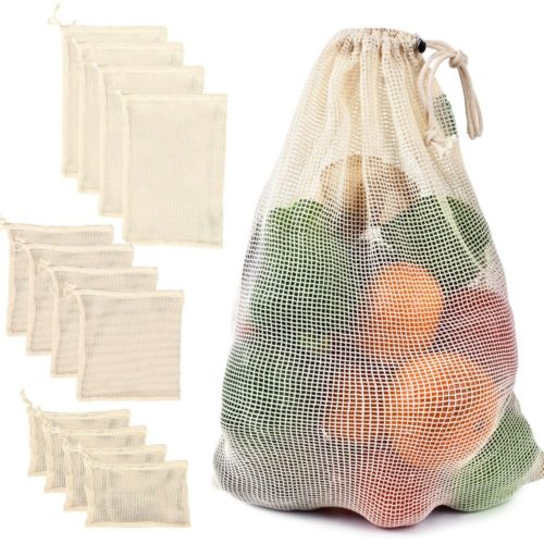 Vegetables Cotton Mesh Drawstring Bag