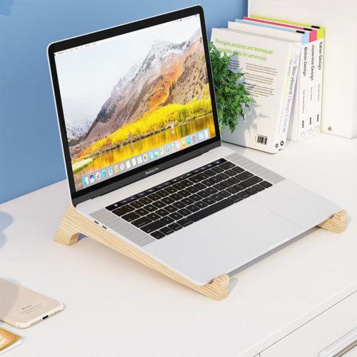Bamboo Wooden Laptop Riser