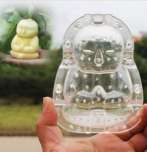 Clear Plastic Buddha Fruit Shaper