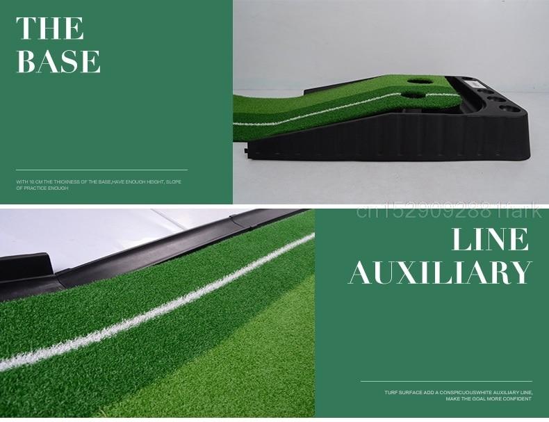 Pgm 2.5M/3M מאמן גולף פוטר עם מחצלת גולף ירידות במגרש גולף אימון פוטר ירוק סט עזרי אימון להחזרת כדור למתחילים
