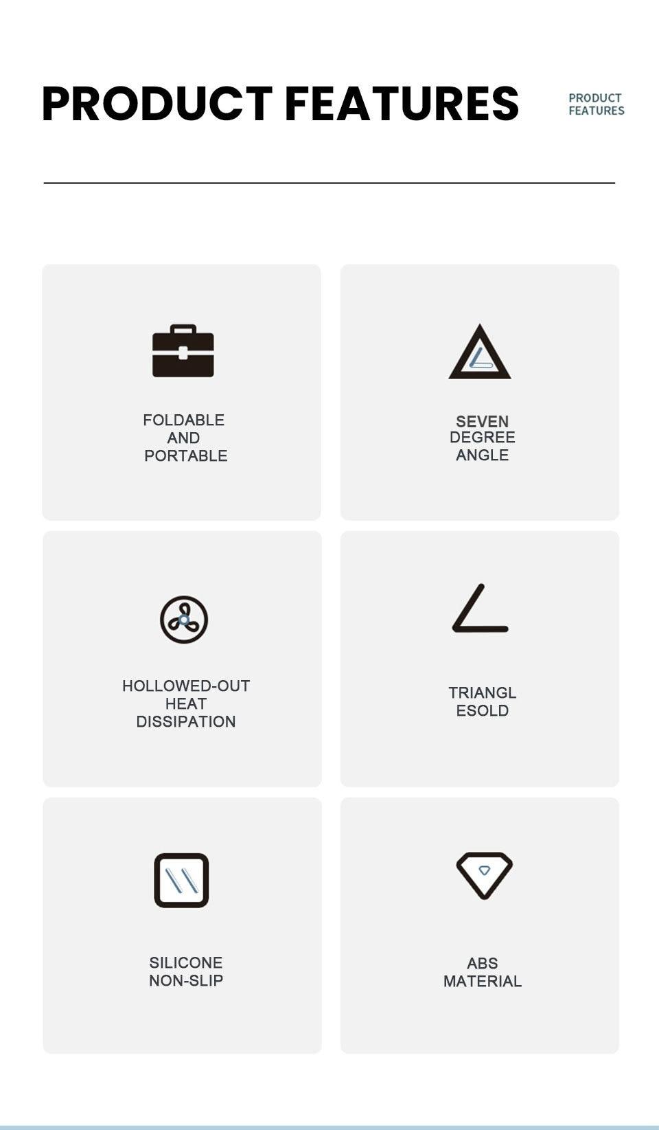 מחזיק מעמד למחשב נייד מתכוונן נייד תמיכה במחשב נייד בסיס למחשב נייד עבור Macbook Pro Huawei Lapdesk סוגר קירור