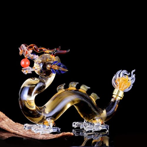 Clear Glass Dragon Decanter