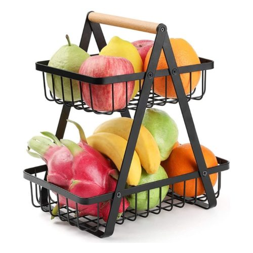 Metal Two Tier Fruit Basket