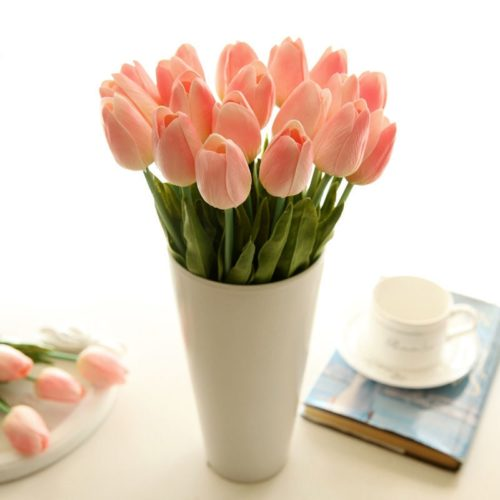 Real Touch Tulips Fake Flowers (5 Pcs)