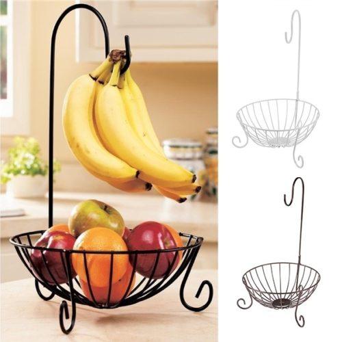 Metal Fruit Basket Banana Hanger