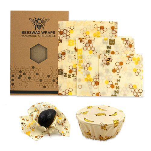 Eco Reusable Beeswax Wraps (3pcs)