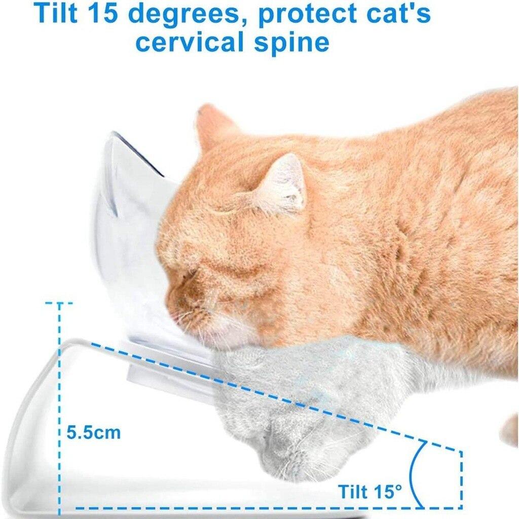 Double Cat Food Bowl Dog with Bracket Bowl Pet Feeder Cat Feeding Water Dog Accessories Puppy Supplies Water Bottle Kitten