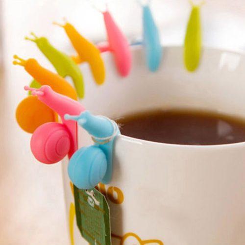 Silicone Snail Tea Bag Holders (5 pcs)