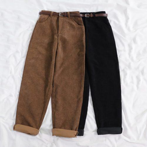 Ladies Corduroy Pants with Belt