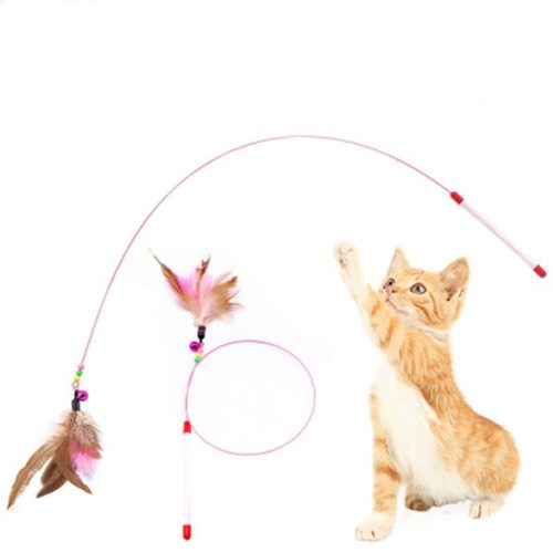 Feather Cat Teaser Wand Toy