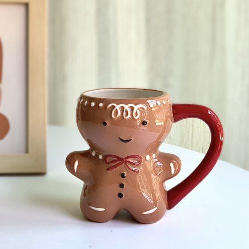 Ceramic 300ml Gingerbread Man Mug