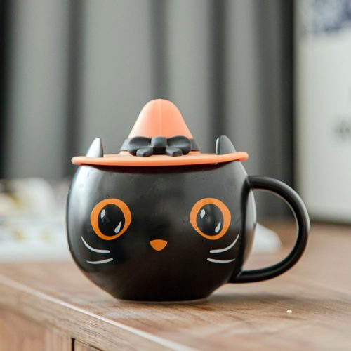 Halloween Black Cat Mug