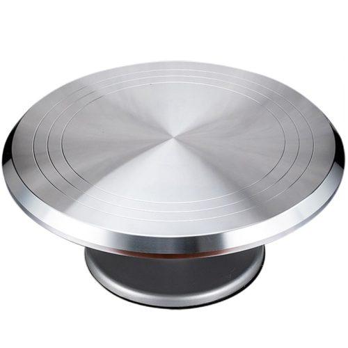 Rotating Metal Cake Turntable Stand