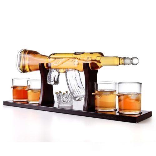 AK47 Whiskey Gun Decanter Set