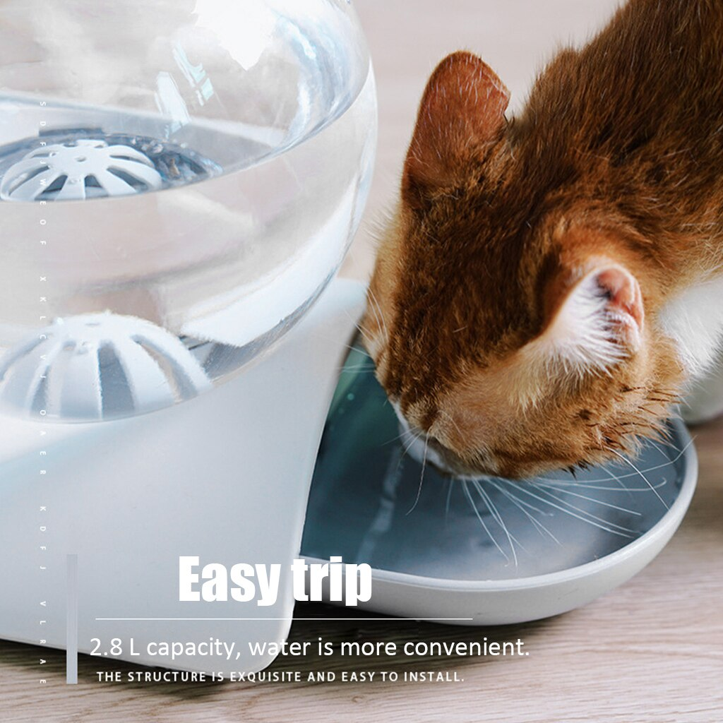 Pet Cat Dog Puppy Water Feeding 2.8L Bubble Automatic Water Feeder Fountain Pets Water Dispenser Large Drinking Bowl Fountain