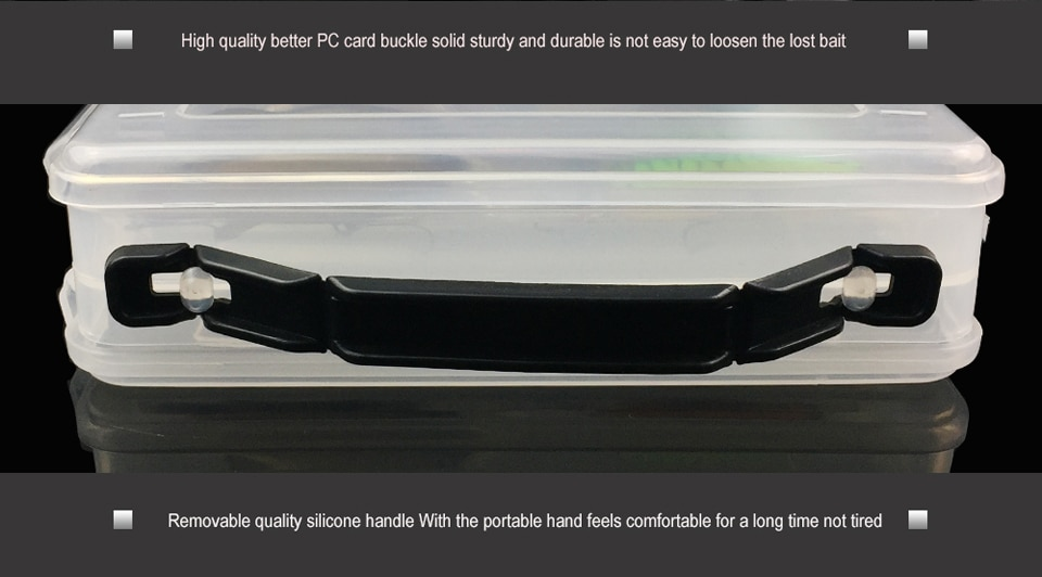 One Piece 27cm*18cm*5cm 14 Compartments Double Sided Fishing Lure Bait Hooks Tackle Waterproof Storage Box Fishing tackle box
