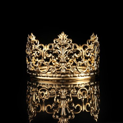 Metal Gold Crown Cake Topper